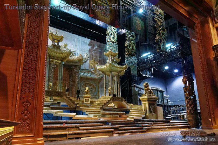 Turandot Stage set-up Royal Opera House - Muscat