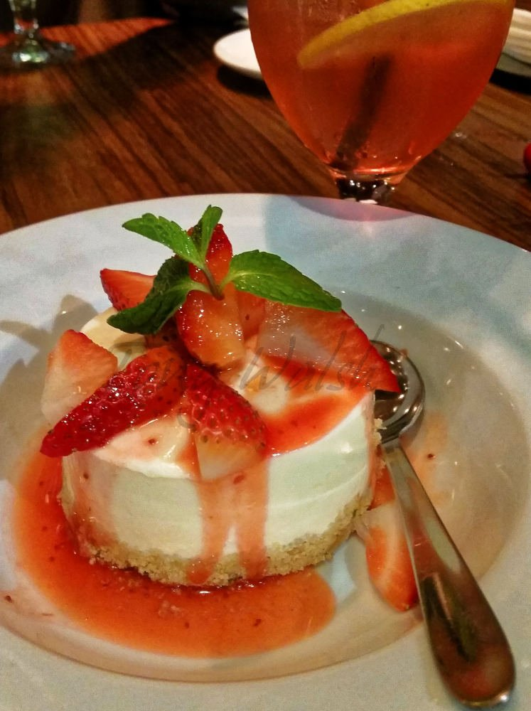 Strawberry Cheesecake at Steak Company