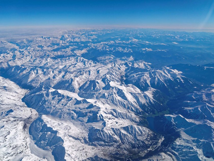 Flying over Lago di Vernago in the Alps to Bologna