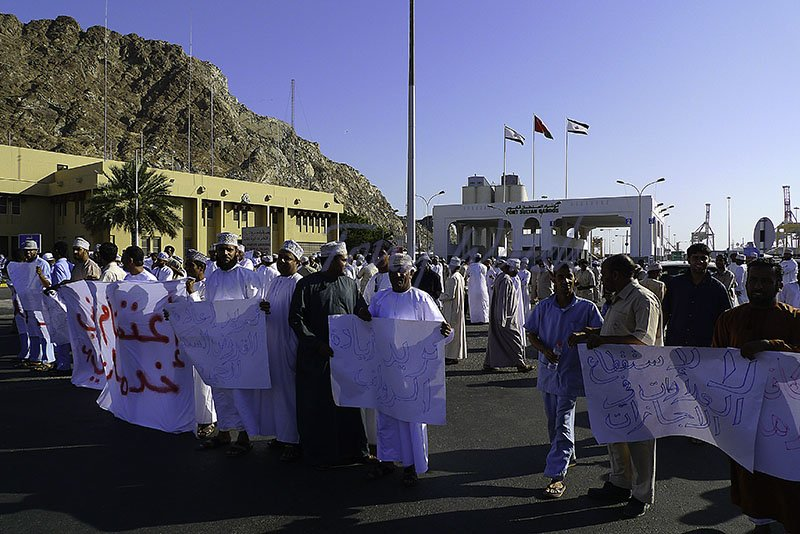 Strike at Mina Sultan Qaboos