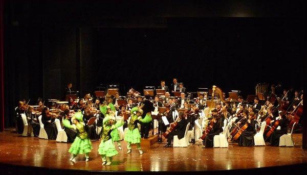 A Kazakh celebration dance
