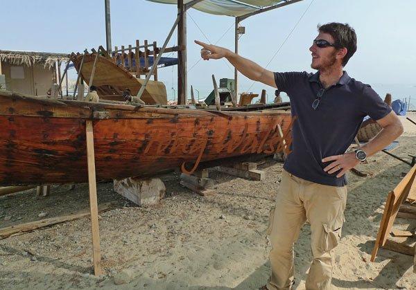 Alessandro explains the boats