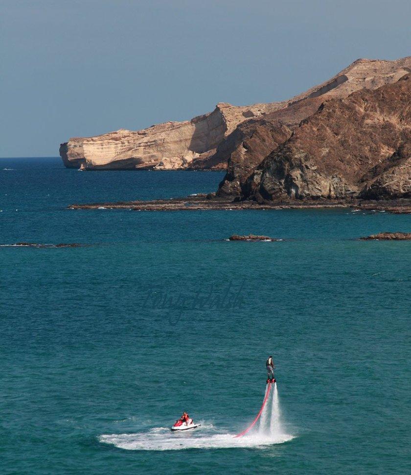 Flyboard off Al Bustan Oman's Marine Heritage festival