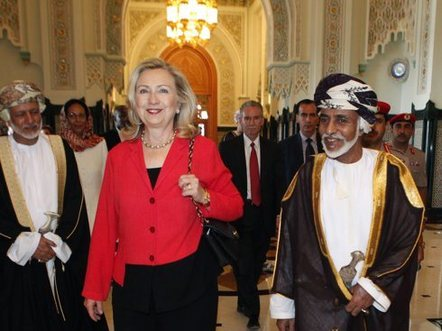 Hillary Clinton and Sultan Qaboos