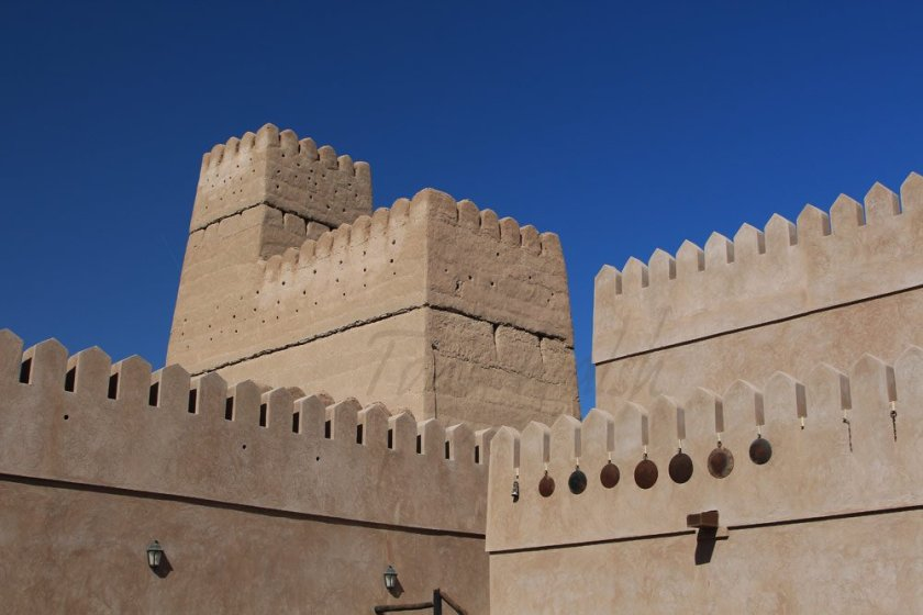 Crenellations of an Omani fort