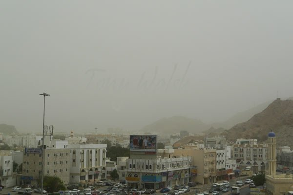 Ruwi Oman Dust Storm 20th March 2012