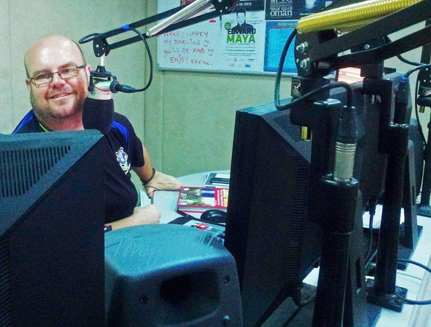 Chris Fisher hard at work on Merge FM
