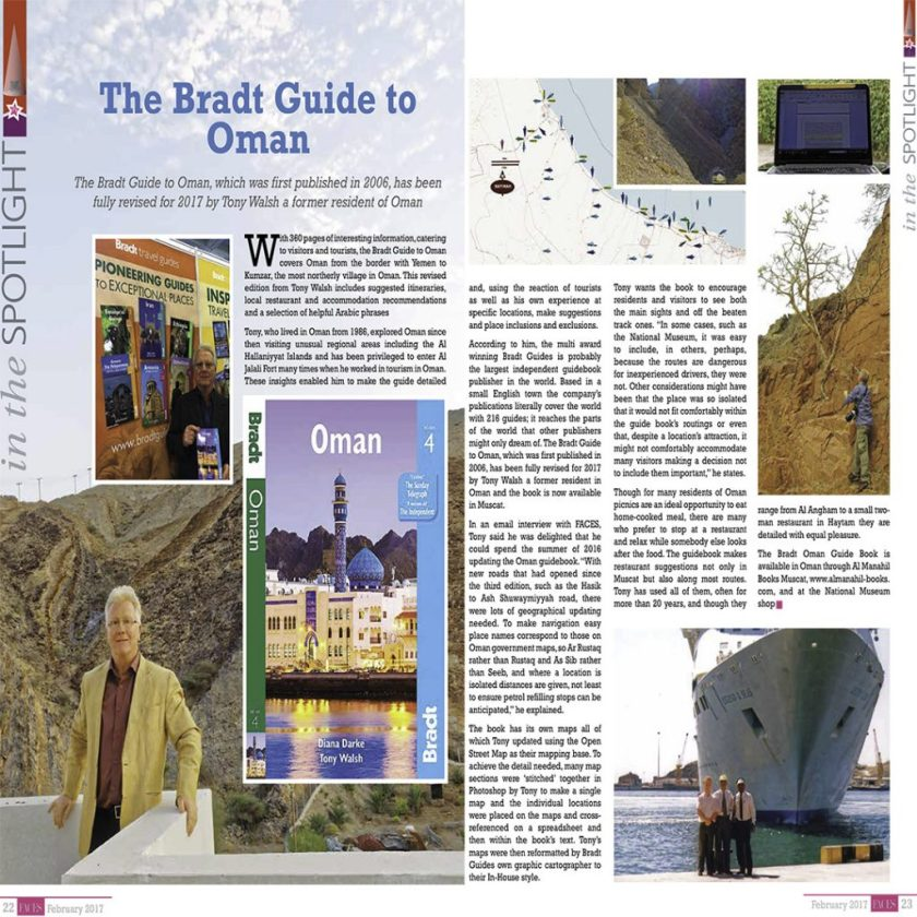 Bradt Guide to Oman in  Faces magazine