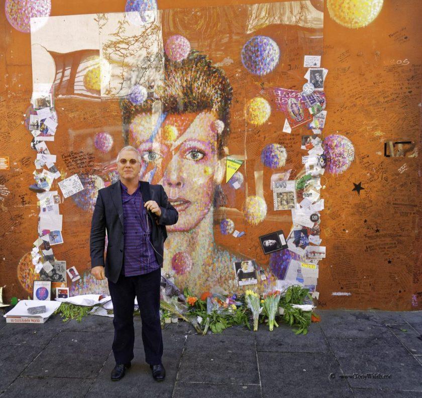 Tony Walsh at David Bowie Memorial Brixton