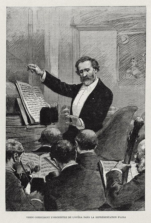 Verdi conducting Aida in Paris1880