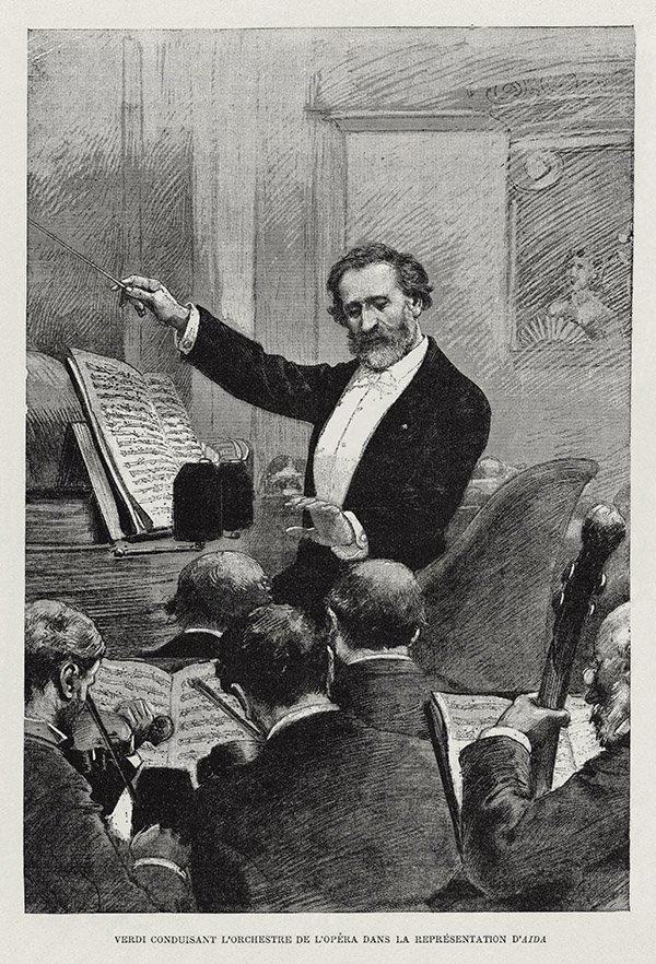 Verdi conducting Aida in Paris1880