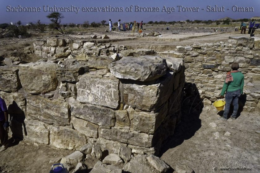Sorbonne University excavations of Bronze Age Tower - Salut - Oman