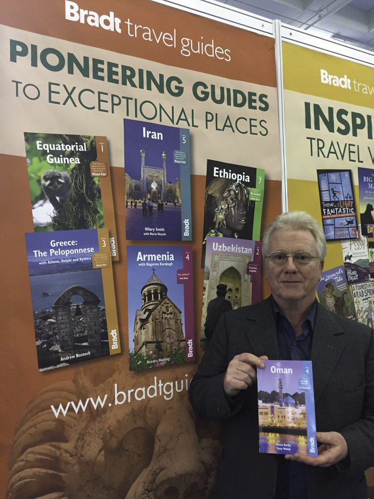 Tony Walsh and his Bradt Guide