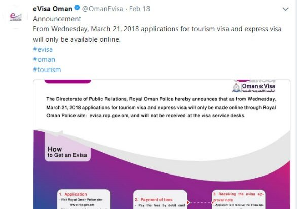 Oman Visa application process is updated POLICE-ENGLISH-Visa-Announcment