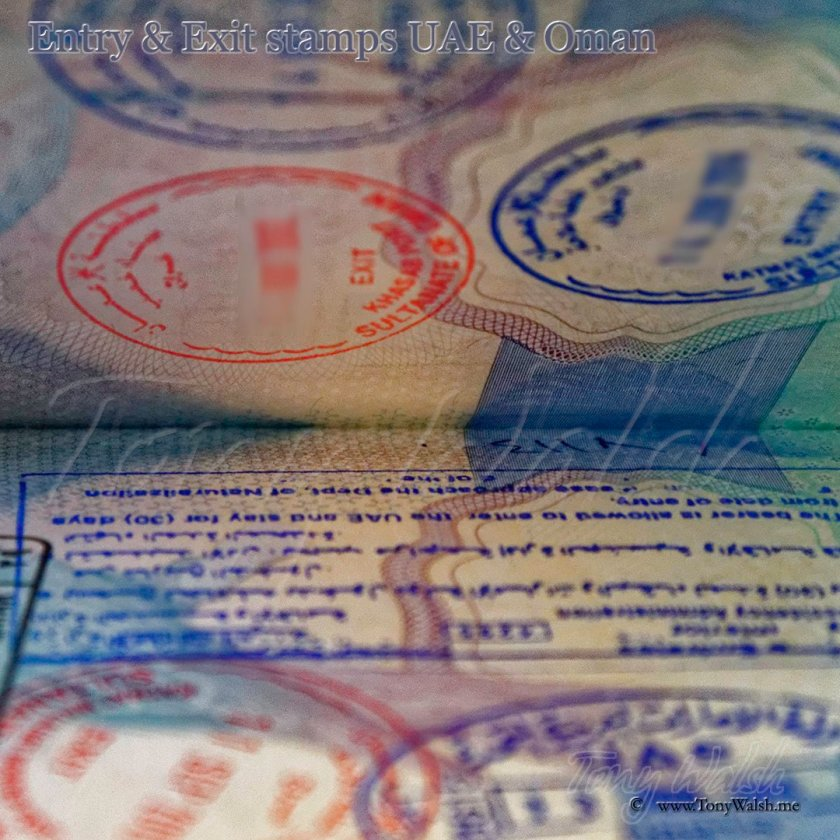 Visa Entry & Exit stamps UAE & Oman