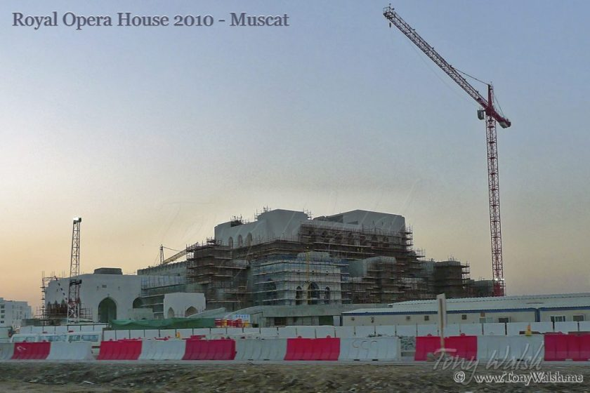 Royal Opera House under construction 2010 - Muscat