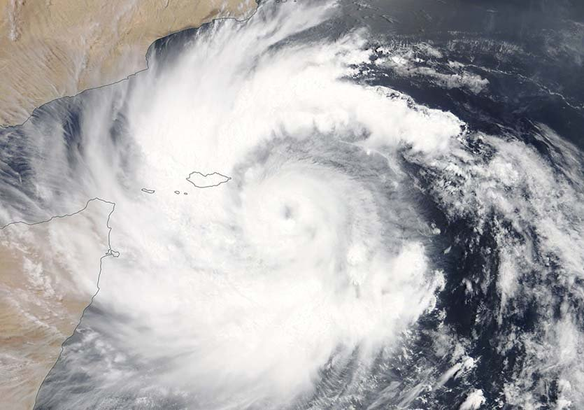 Cyclone Mekenu 23 May MODIS NASA