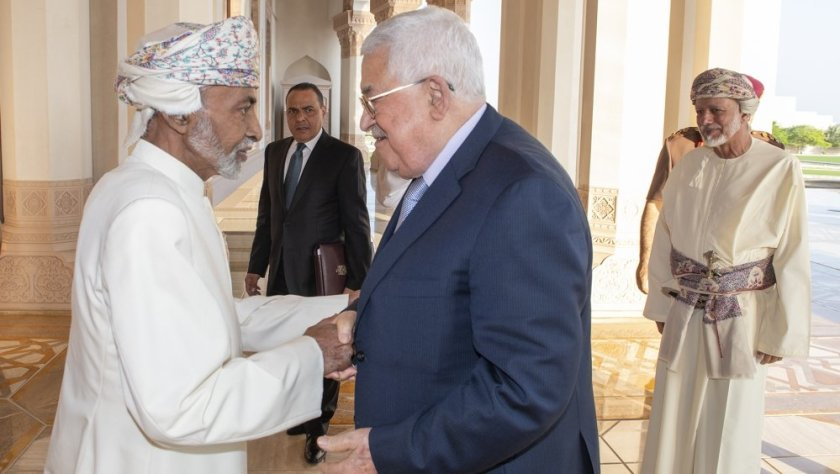 Sultan Qaboos and President Mahmoud Abbas
