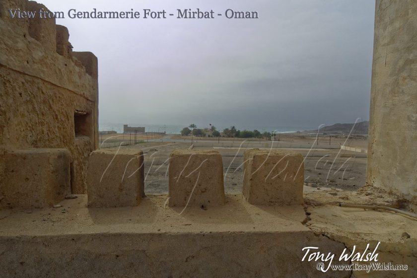 View from Gendarmerie Fort - Battle of Mirbat - Oman