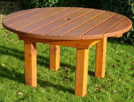 heavy round garden table