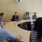 Bible and Culture students from several nations meeting with a civil servant in the Bundestag