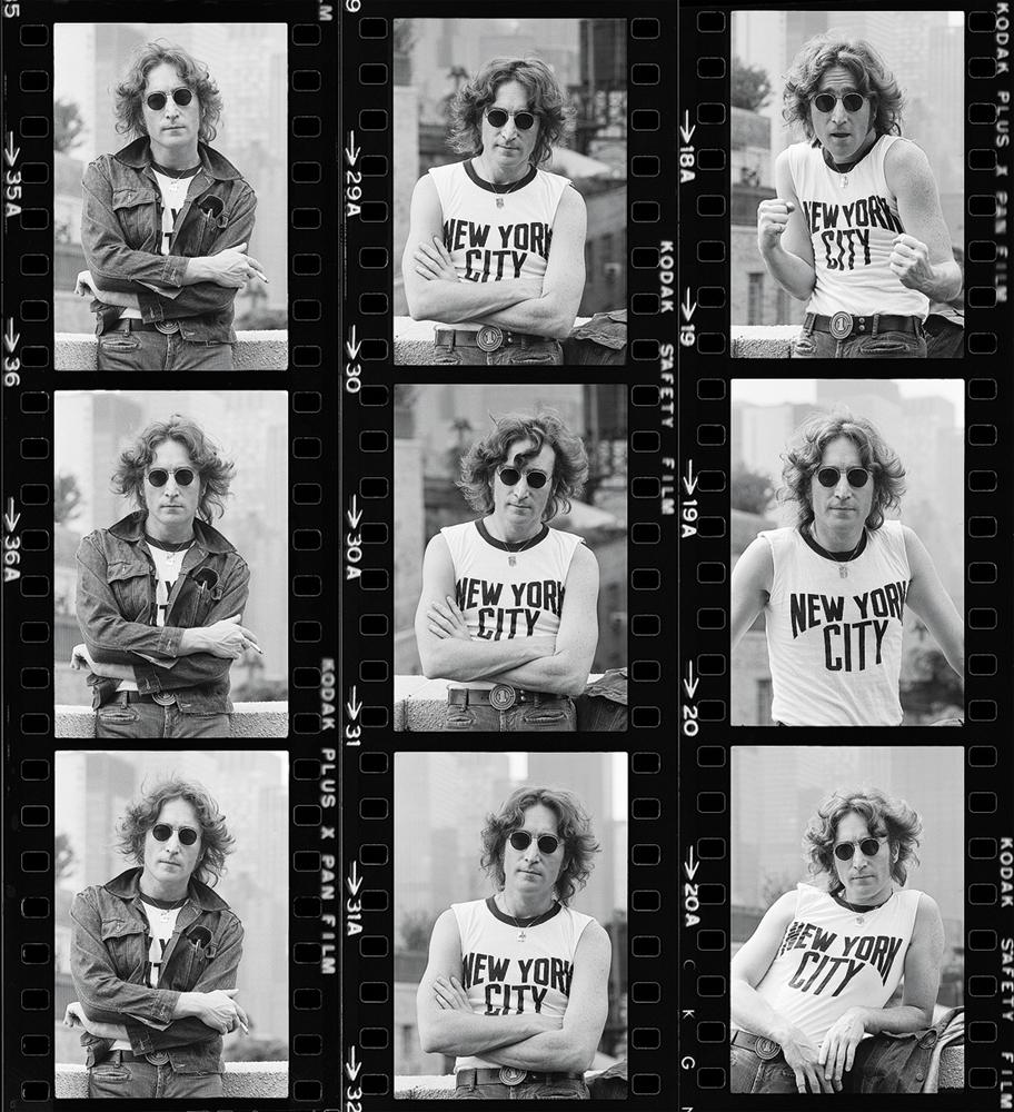 John Lennon by Bob Gruen. New York, 1974.