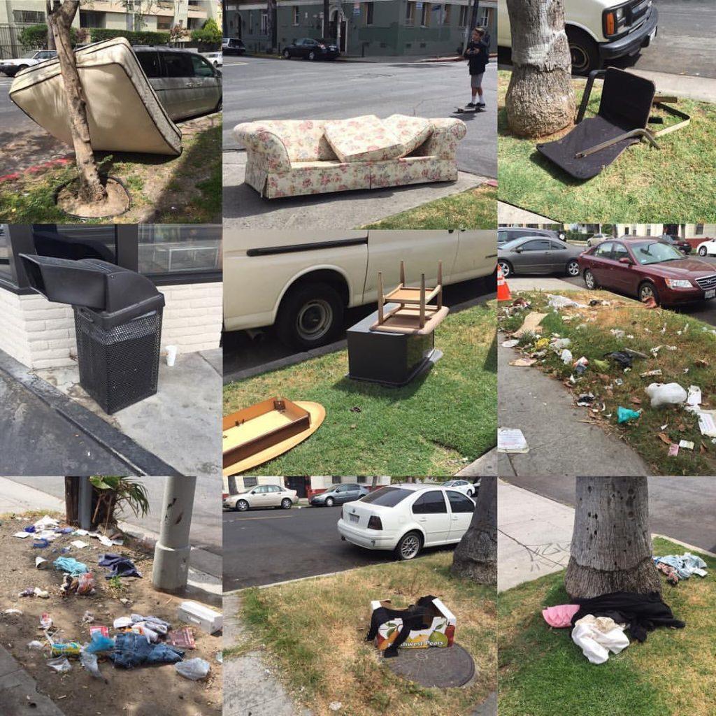 Koreatown garbage