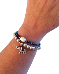 Lapis and Elephant Bracelets r