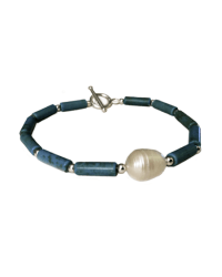 Tiny Tookey Turquoise with Pearl Bracelet