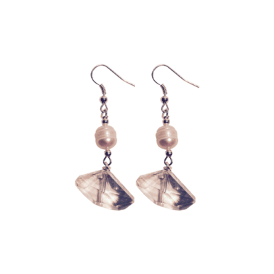 Geo-Crystal Pearl Earrings