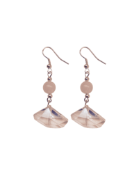 Geo-Crystal Rose Quartz Earrings