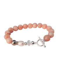 Classic Peach Bracelet with Clasp
