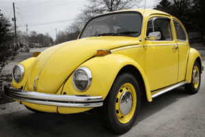 Yellow Volkswagon Beetle