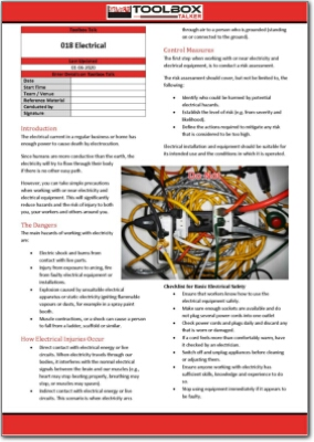 electrical toolbox talk