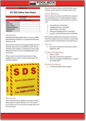 sds toolbox talk