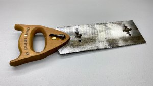 """Vintage Atkinson Double Edge Tenon Saw With Depth Stop 10"""" Blade No Pitting just staining Smooth to touch"""