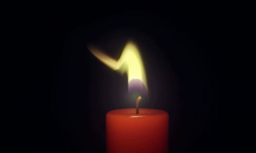 single candle flame