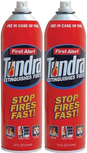 First Alert AF400-2 Tundra Fire Extinguisher Aerosol Spray Twin Pack