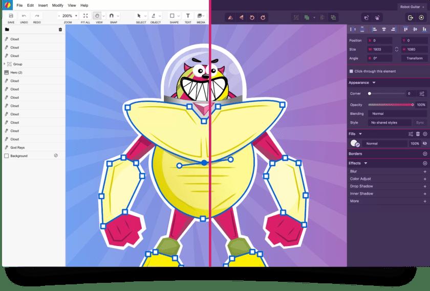 gravit designer tool per grafica