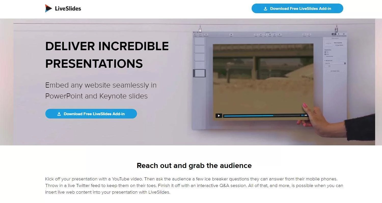 LiveSlides, rendi vive le tue slide - Tool per startup