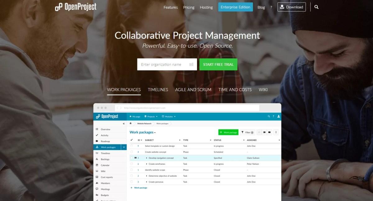Gestione dei progetti in modo intuitivo, completo e open source, Open Project