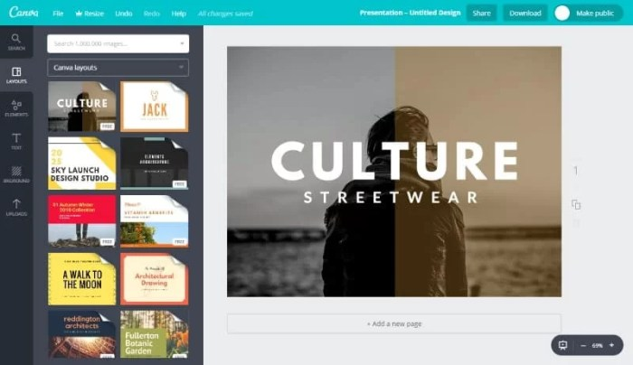 canva tool per grafica