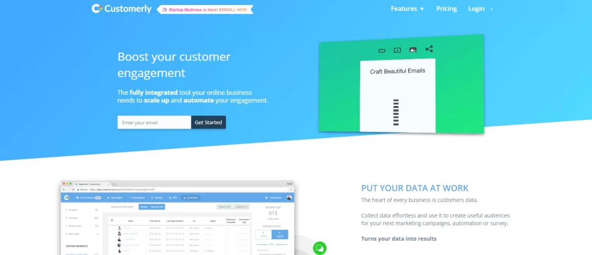 Gestisci lead e clienti con un unico tool, Customerly
