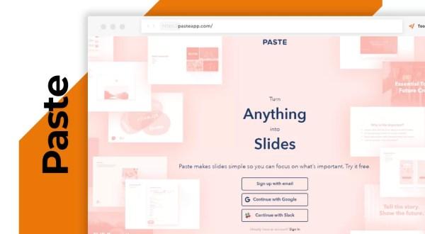 Paste crea splendide slide
