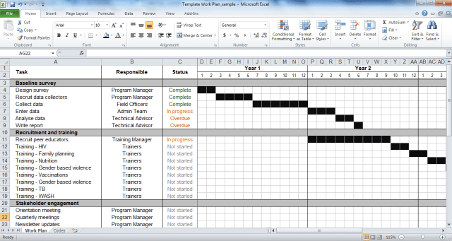 Strategic Plan Template Excel Free Download