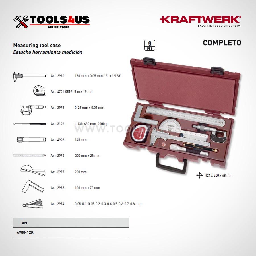 3966 estuche caja herramientas medicion profesional taller 01 - Estuche Completo Herramientas de Medición 9 piezas