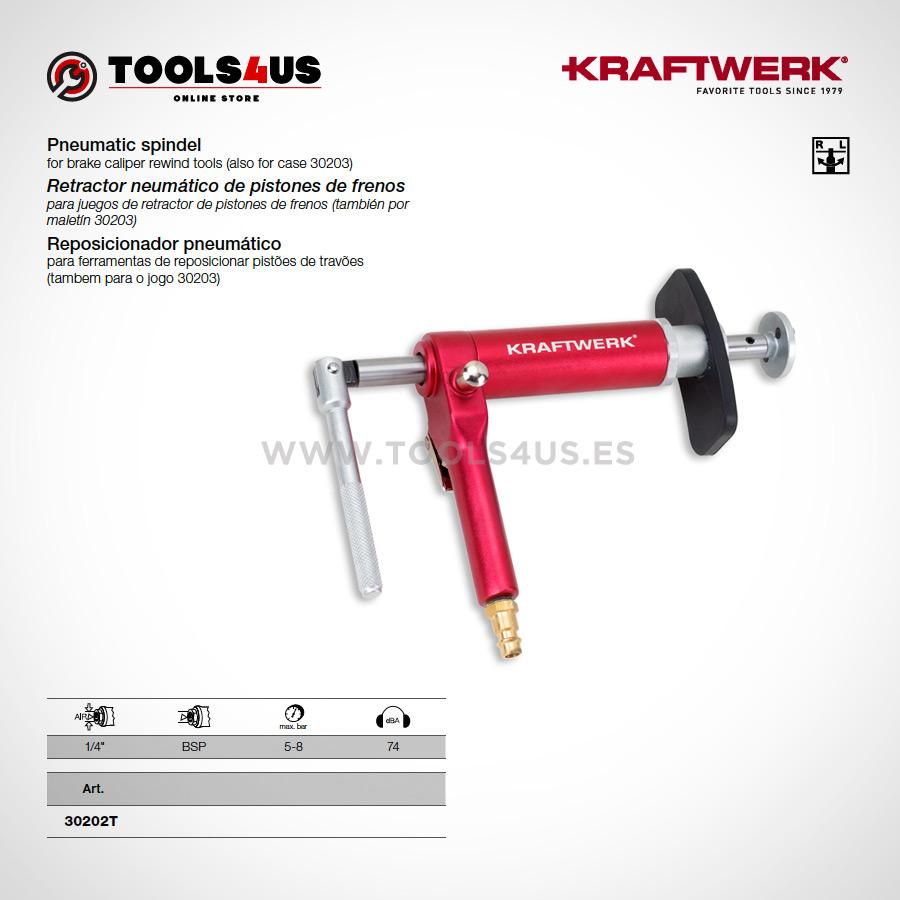 30202T KRAFTWERK herramientas taller barcelona Retractor neumatico pistones de frenos 01 - Retractor neumático de pistones de frenos