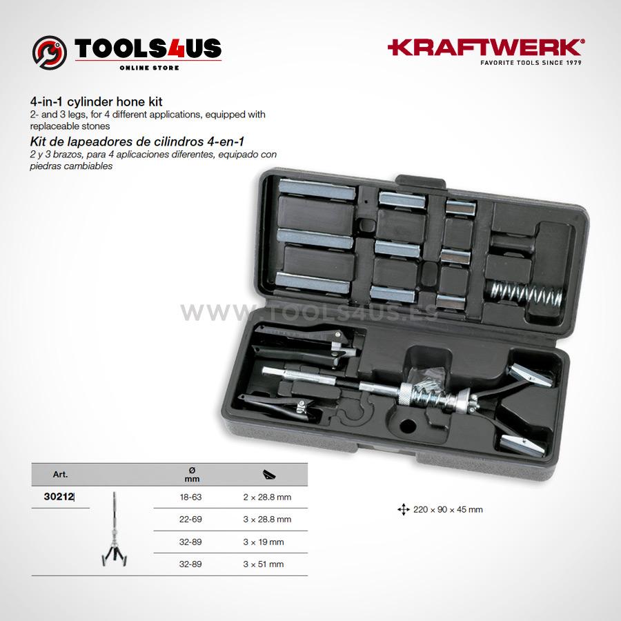 30211 KRAFTWERK herramientas taller barcelona Lapeador de cilindros 4en1 02 - Kit de lapeadores de cilindros 4-en-1