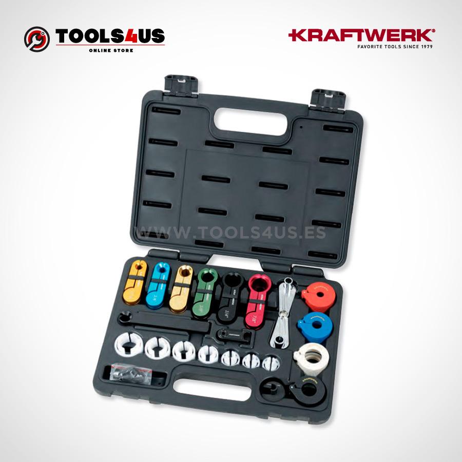 30602 KRAFTWERK herramientas taller barcelona Juego de desconexión de tubos de aire acondicionado y combustible 01 - Juego de desconexión de tubos de aireacondicionado y combustible