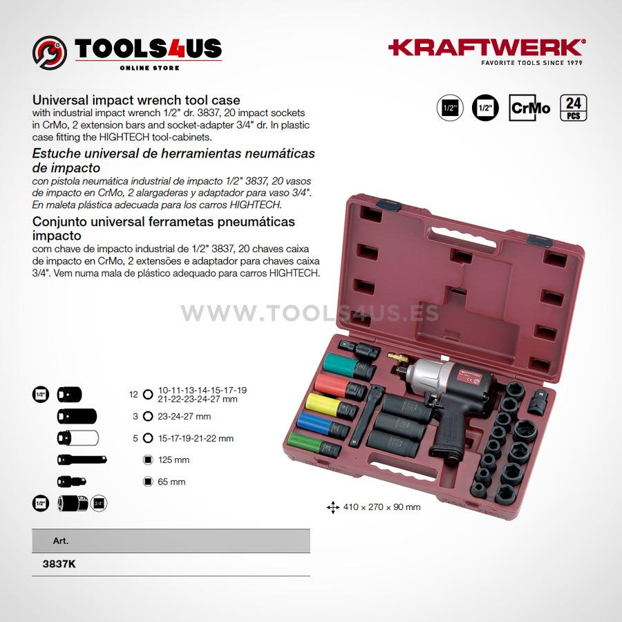 3837K KRAFTWERK herramientas taller barcelona espana Estuche universal herramientas neumaticas impacto pistola 02 - Estuche universal de herramientas neumáticas de impacto